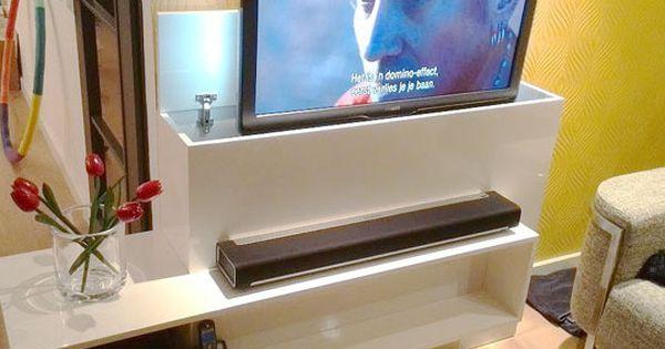 tv-meubel-astor-met-lift-zelf-maken door Rob - huis  Pinterest