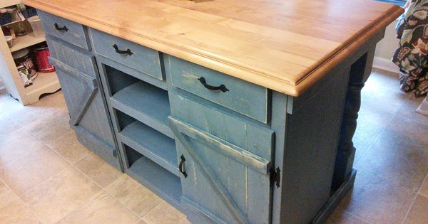 Farmhouse kitchen island do it yourself home projects for Do it yourself kitchen ideas