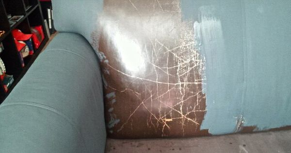 Annie Sloan Paint Leather And The Same Section After