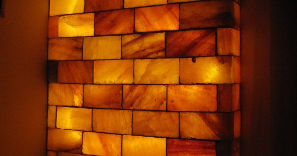 Do Salt Lamps Kill Mold : Wall made of salt blocks Sauna Pinterest