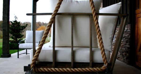 gartenschaukel aus holz und mit seil selber bauen seil pinterest gartenschaukel aus holz. Black Bedroom Furniture Sets. Home Design Ideas