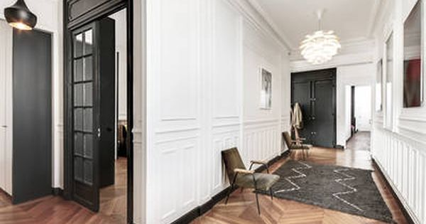 Miniature r novation d 39 un appartement haussmannien dans le for Interieur chic parisien