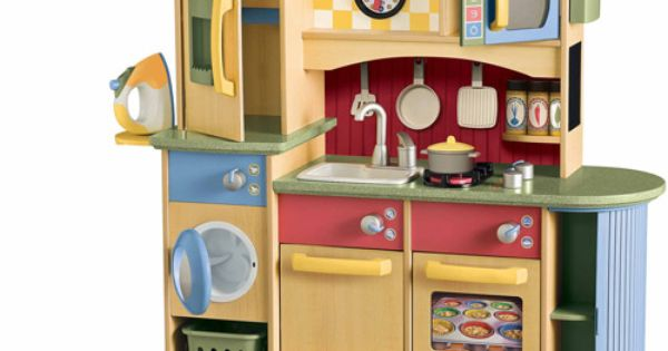 Little Tikes Deluxe Wooden Kitchen Amp Laundry Center Play