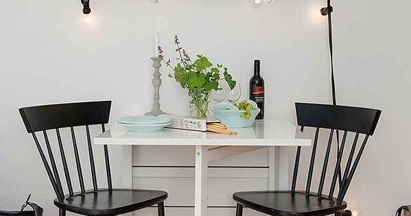 Una mesa para todo mesa plegable ikea y espacios peque os - Comedores pequenos ikea ...