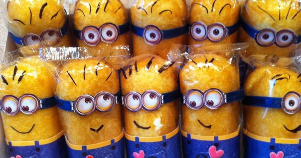 Despicable Me Minion Birthday Party Twinkiw Favor Idea