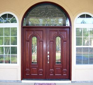 Double Doors With Half Round Transom Majestic Glass Double Doors