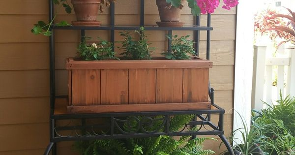 Repurpose Bakers Rack Front Porch Living Pinterest
