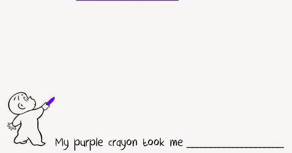 Harold and the purple crayon free preschool kindergarten for Harold and the purple crayon coloring pages