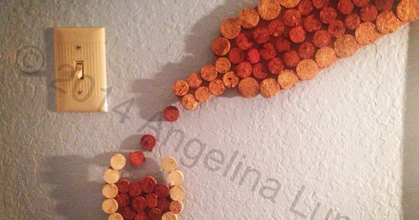 Diy wine cork project wine glass bottle wall decor wine not pinterest bottle wall - Wine cork diy decorating projects ...
