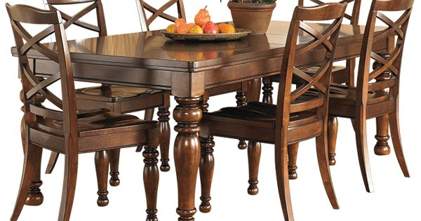 Series name porter item name rect dining room ext table for Dining table weight