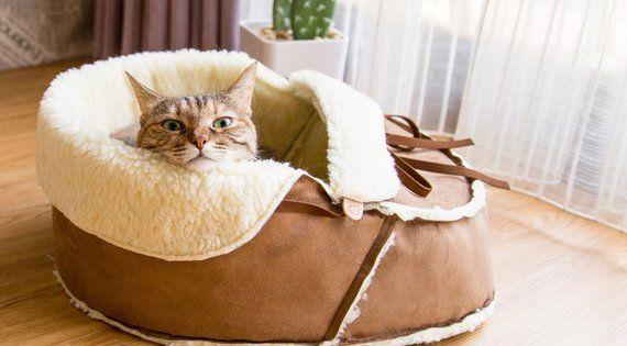 Image 0 In 2020 Cat Bed Pet Bed Fleece Pet Bed