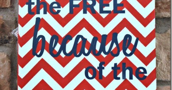 Patriotic Chevron Art 4th of july