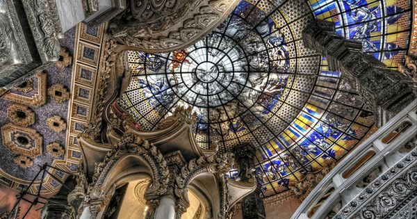 Ceiling of the Erawan Museum in Samut Prakan province, Thailand. Definitely a