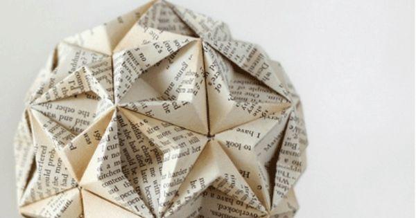 Bookogami01 b cher pinterest alte b cher papier und - Pinterest basteln mit papier ...