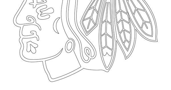 chicago blackhawks logo coloring 1 200 1 600 pixels blackhawky halloween pinterest