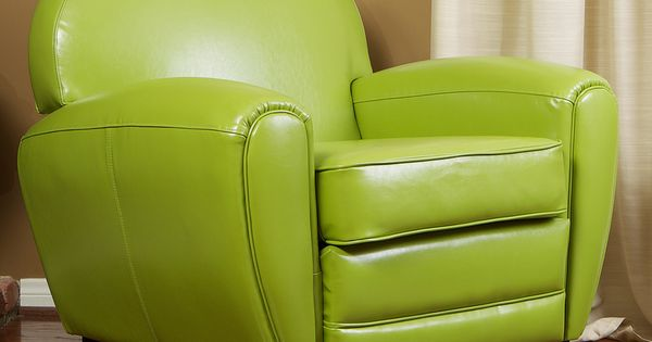 Christopher Knight Home Oversized Lime Green Leather Club