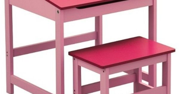 Childrens Desk And Stool Pink Mdf For Children 39 S Bedroom