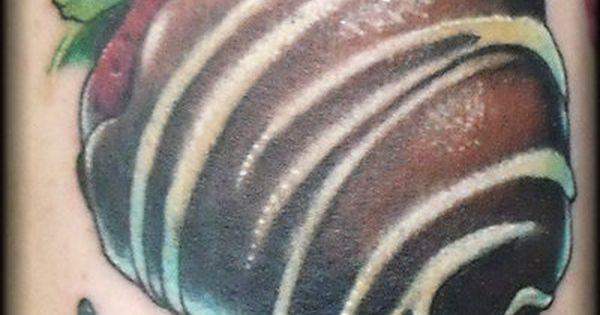 Chocolate Strawberry Tattoo  My Style Pinterest