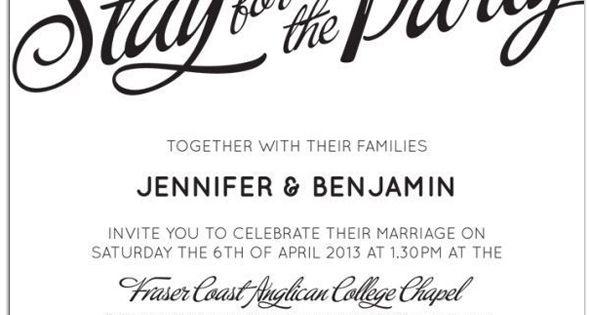 Informal Wedding Reception Invitations Wording: 20 Popular Wedding Invitation Wording & DIY Templates