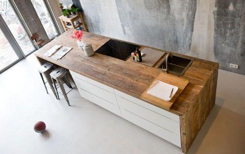 Plan de travail cuisine en 71 photos id es inspirations for Plan de travail bois 3m