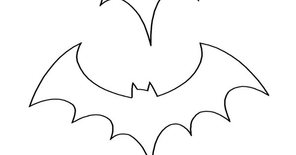 Bat Pattern | Halloween Coloring Page | Three Sizes Template | Preschool