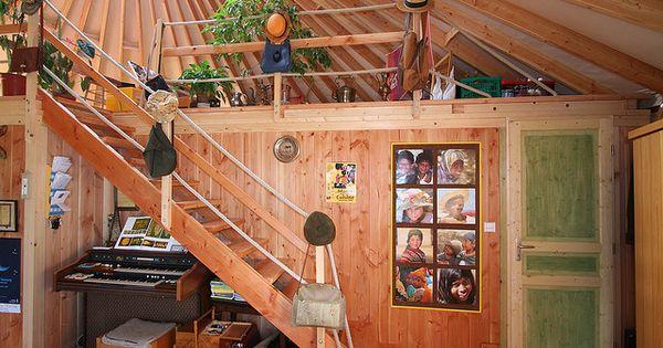 yourte d 39 habitation 030 by yourte contemporaine via flickr yourt pinterest yurts tiny. Black Bedroom Furniture Sets. Home Design Ideas