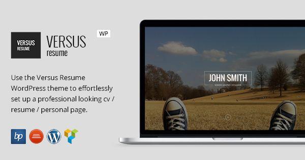 Versus Resume  Responsive Cv Wordpress Theme  Wordpress Website