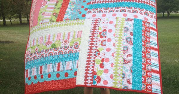Gingersnaps Quilts: easy strip quilt