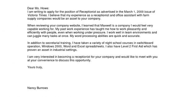 sample general cover letter a good sample cover letters opening