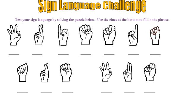 Disability Awareness Activity for Kids: Sign Language Challenge! Download the worksheet and use the sign language key to solve the puzzle.