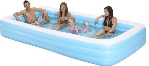 3 Inflatable Pools That Are Big Enough For Adults Inflatable Pool Rectangular Pool Kiddie Pool