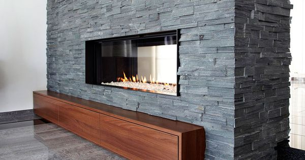 Chimenea panor mica a gas chimeneas modernas pinterest for Estufa hogar moderna