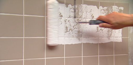 How To Paint Over Ceramic Tile In A Bathroom With Images