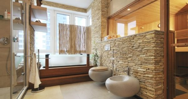 naturmaterialien im bad verblendsteine und holz baie pinterest verblendsteine. Black Bedroom Furniture Sets. Home Design Ideas