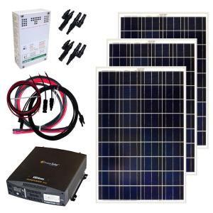 Grape Solar 3 180 Watt Expandable Poly Crystalline Pv Grid Tied Solar Power Kit Gs 3180 Kit In 2020 Rv Solar Solar Kit Off Grid Solar