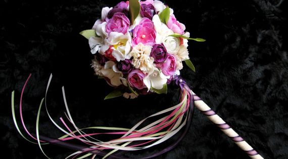 Flower Girl Bouquet Flower Girl Wand