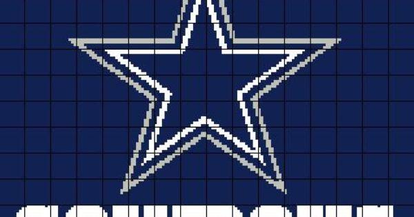 Dallas Cowboys Crochet Graph Chart Crochet Graph
