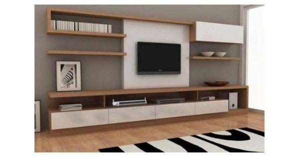 modular moderno rack panel tv lcd living muebles luca