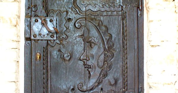Vintage Wooden Door love the face in the door