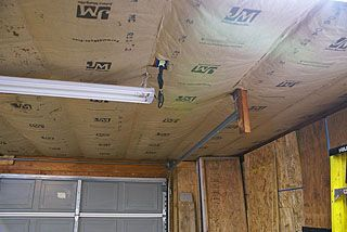 Fibergl Insulation Installed In Garage Ceiling