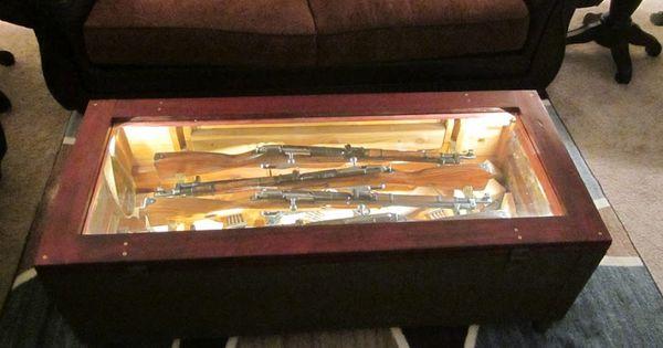 Mosin Nagant Rifle Crate Coffee Table Guns Pinterest