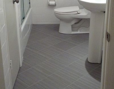 Ceramictec 12x12 Daltile Fabrique Unpolished Quot Gris Linen Quot Porcelain Tile Bathroom Floor With A