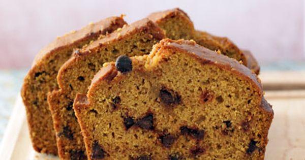 Peanut Butter Pumpkin Chocolate Chip Bread | Recipe | Pumpkin ...