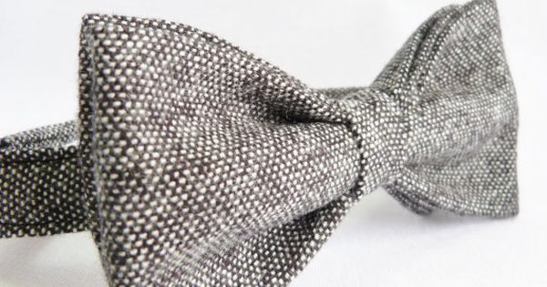 Hey, I found this really awesome Etsy listing at http://www.etsy.com/listing/122931808/mens-bow-tie-blackgrey-tweed