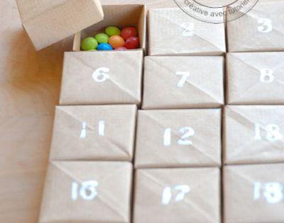 15 id es pour cr er un calendrier de l avent diy et original calendrier de l 39 avent calendrier. Black Bedroom Furniture Sets. Home Design Ideas