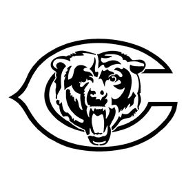 Chicago Bears NFL Color Die-Cut Decal Car Sticker