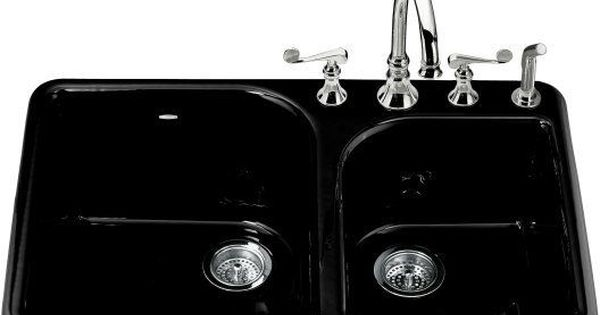 Kohler K 5932 4 Cast Iron Kitchen Sinks Sink Double Bowl