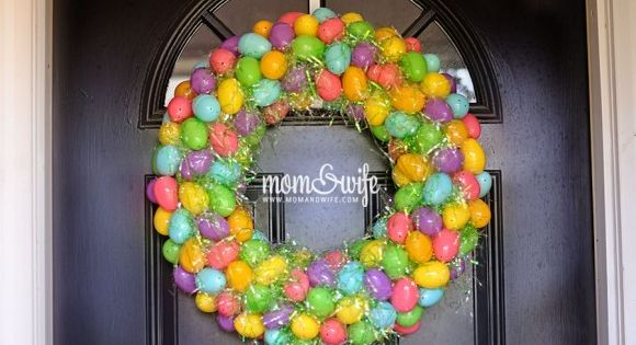 How to Make an Easter Egg Wreath. Use whatever color plastic eggs