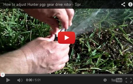How To Adjust Hunter Pgp Gear Drive Rotor Irrigation Repair