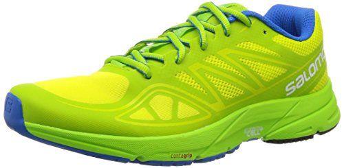 Salomon Men S Sonic Aero Running Shoe Gecko Green Granny Green Union Blue 10 5 D Us You Can Get Addit Best Trail Running Shoes Running Shoe Reviews Shoes
